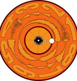 "VISUAL VINYL VOL. 2 - 12""  Mono Orange Scratch Record"