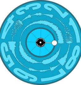 "VISUAL VINYL VOL. 2 - 12""  Mono Blue Scratch Record"
