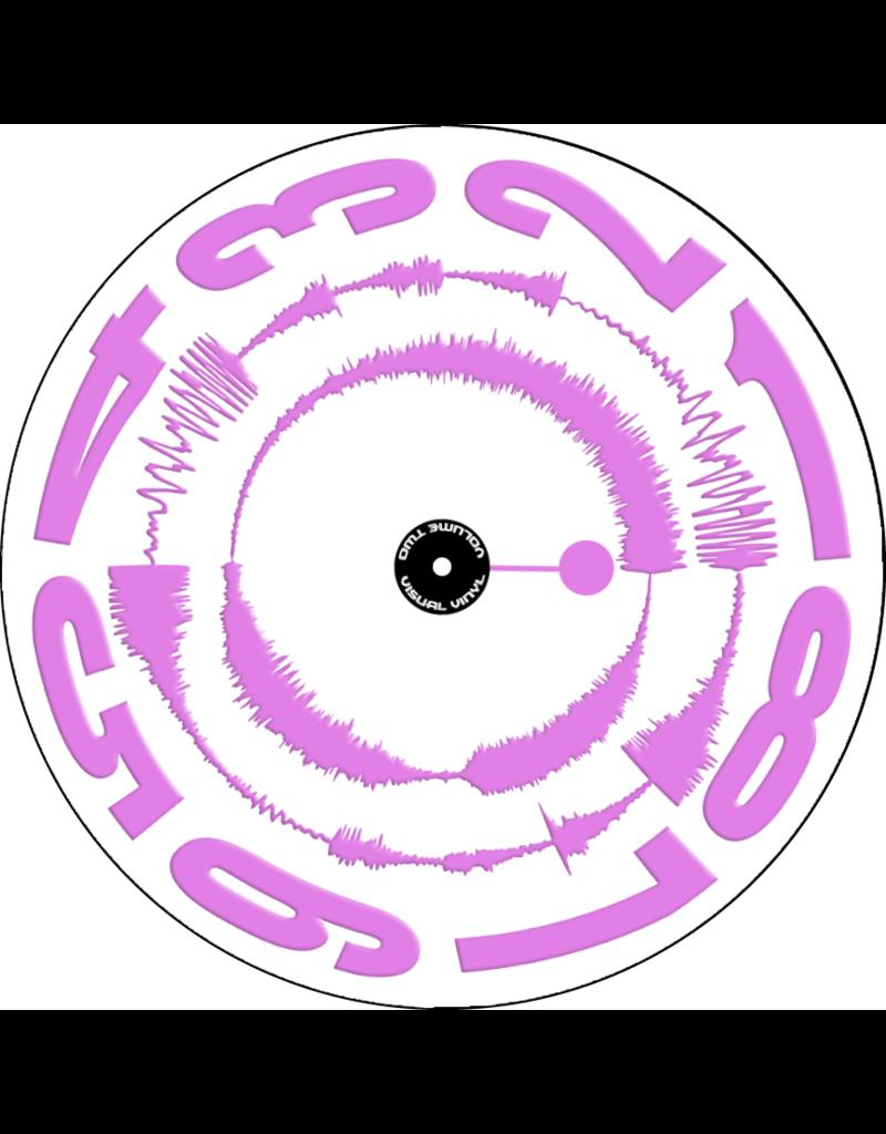 "VISUAL VINYL VOL. 2 - 12""  Pink on White Scratch Record"