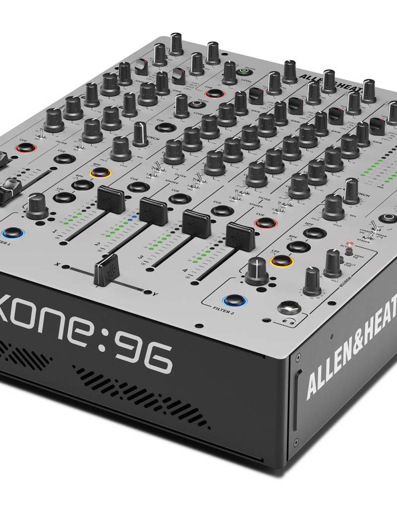 Allen & Heath Xone:96 6+2 Channel Analog DJ Mixer w/ Built-in Dual 32Bit/96kHz Sound Cards: Allen & Heath