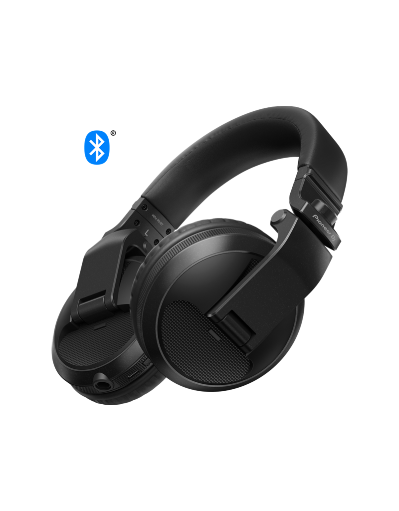 HDJ-X5BT-K Black Over-Ear DJ Headphones w/ Bluetooth® Wireless Technology - Pioneer DJ