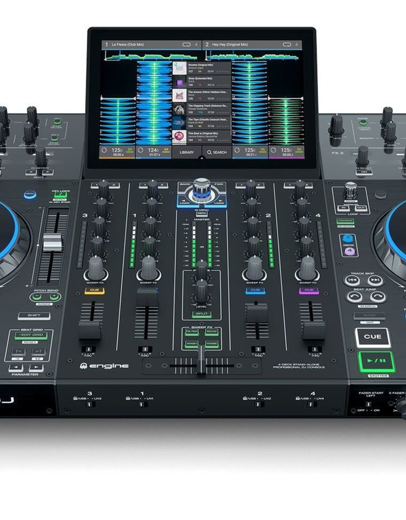 "Denon DJ Prime 4 All-in-One Standalone DJ System w/ Serato DJ Pro and 10"" Touchscreen"