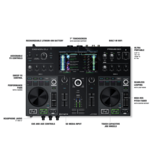 "Denon DJ Prime GO 2-Deck Rechargeable Smart DJ Console with 7"" Touchscreen"