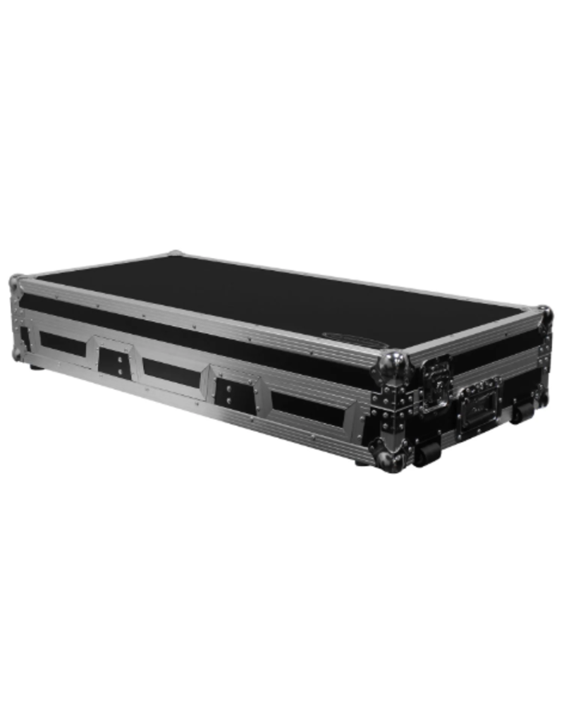 "Odyssey Extra Deep DJ Coffin for Universal Media Players and 12"" Mixer with Wheels"