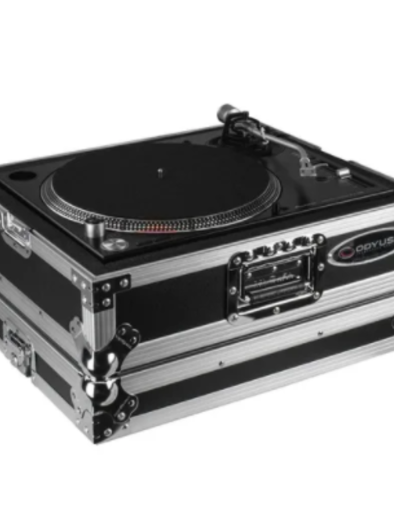 Odyssey Medium Duty Universal Turntable Case No Hinges Silver Hardware