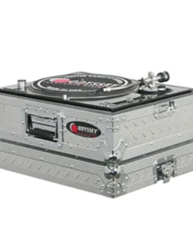 Odyssey Medium Duty Universal Turntable Case No Hinges Diamond Plate