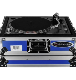 Odyssey Medium Duty Universal Turntable Case No Hinges Blue