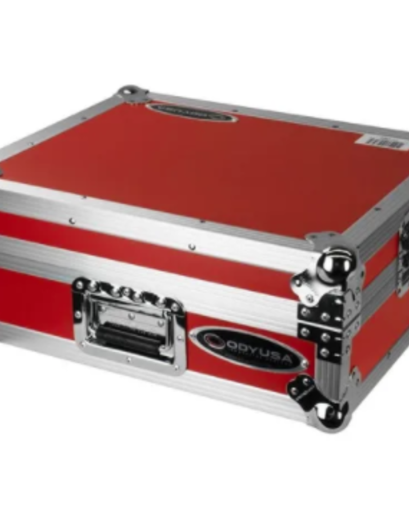 Odyssey Medium Duty Universal Turntable Case No Hinges Red