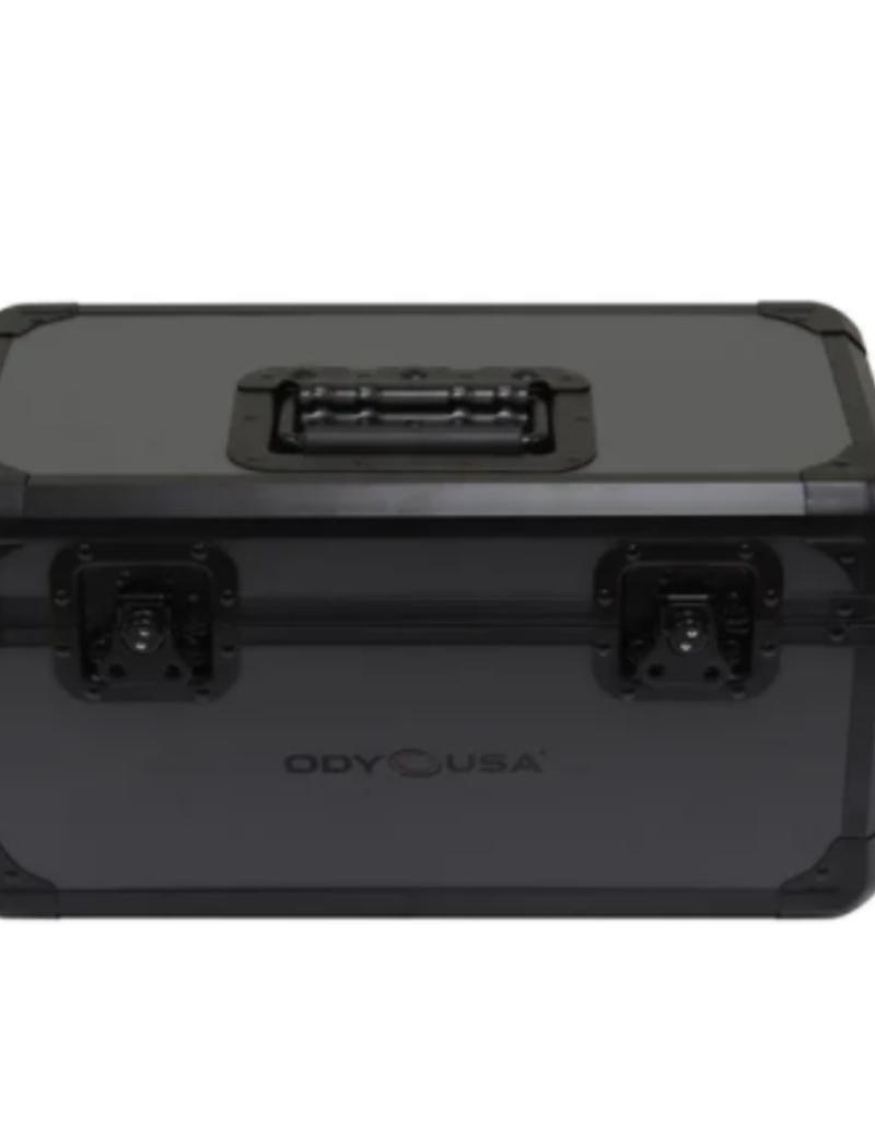 Odyssey Black KROM on Gray Record / Utility Case for 120 7″ Vinyl Records