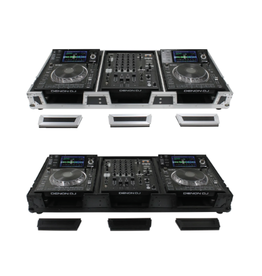 """Odyssey Extra Deep DJ Coffin for Universal Media Players and 12"""" Mixer with Wheels"""