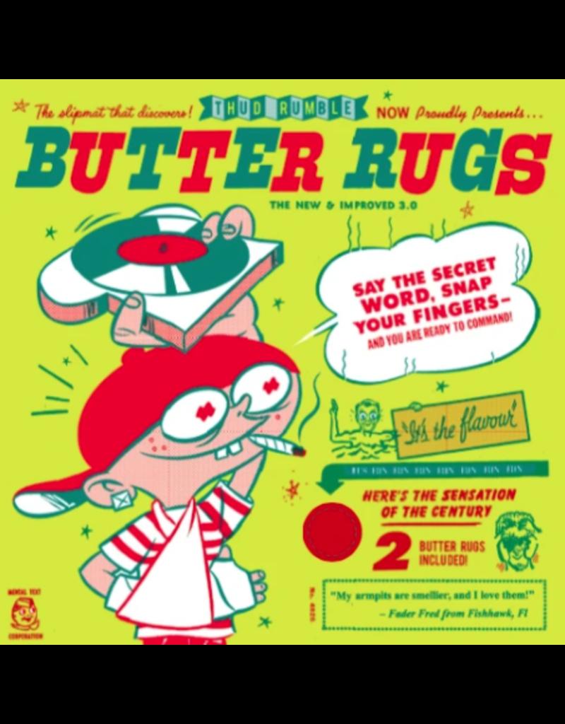 "Thud Rumble Butter Rugs 12"" Black Slipmats (Pair) - Thud Rumble"