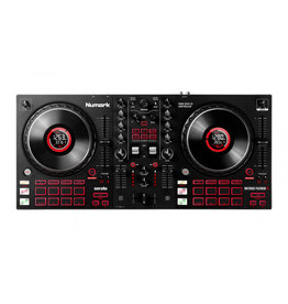 Numark Mixtrack Platinum FX 4-Deck Advanced DJ Controller with Jog Wheel Displays and Effects Paddles for Serato DJ