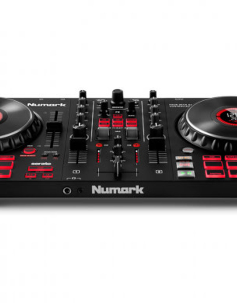 Mixtrack Platinum FX 4-Deck Advanced DJ Controller with Jog Wheel Displays and Effects Paddles for Serato DJ - Numark