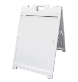 """Mile High DJ Supply Signicade MDX White Frame Double Sided w/ 2 - 18"""" x 24"""" 4mm Coroplast Signs"""