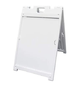 "Mile High DJ Supply Signicade MDX White Frame Double Sided w/ 2 - 18"" x 24"" 4mm Coroplast Signs"