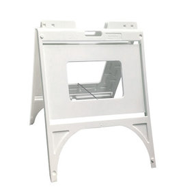 """Mile High DJ Supply Signicade Quik White Frame Double Sided w/ 2 - 24"""" x 18"""" 4mm Coroplast Signs"""