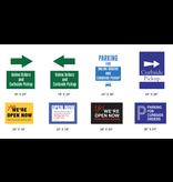 4mm Coroplast Signs for Sidewalk Signs Various Designs