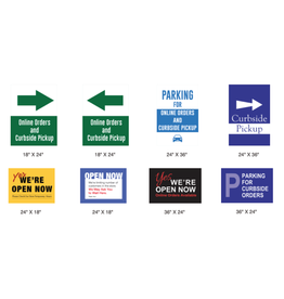 4mm Coroplast Signs for Sidewalk Signs Various Designs
