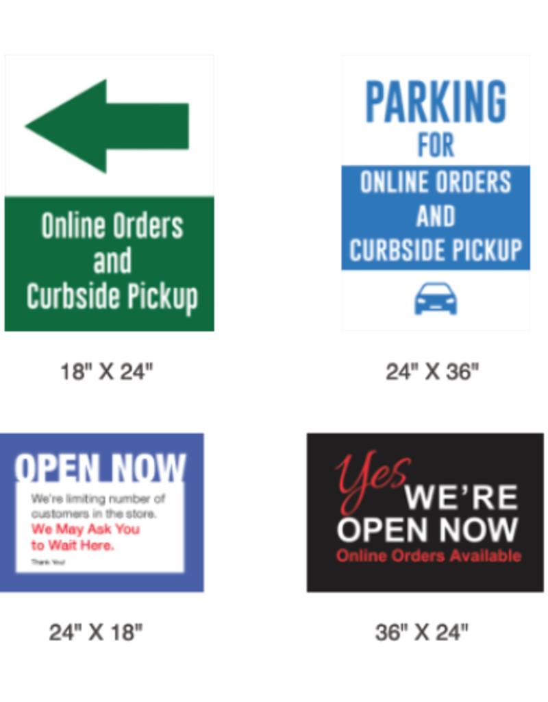 H-Stake Lawn Sign with Double Sided 4mm Coroplast Sign