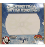 """Thud Rumble Butter Rugs 12"""" Glow-in-the-Dark Beedle on White Slipmats (Pair) - Thud Rumble"""