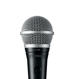 Shure PGA48-XLR Cardioid Dynamic Vocal Microphone w/ Clip, Stand Adapter, Pouch and 15 ft XLR-to-XLR Cable