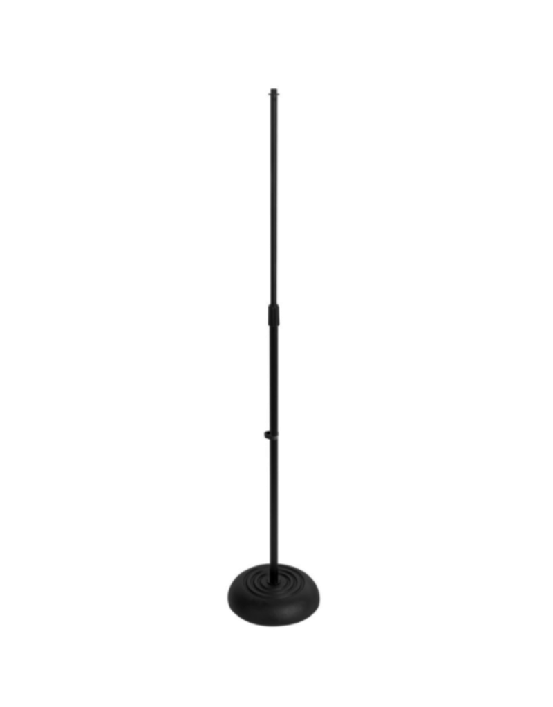 On-Stage On-Stage Round Base Microphone Stand - Black