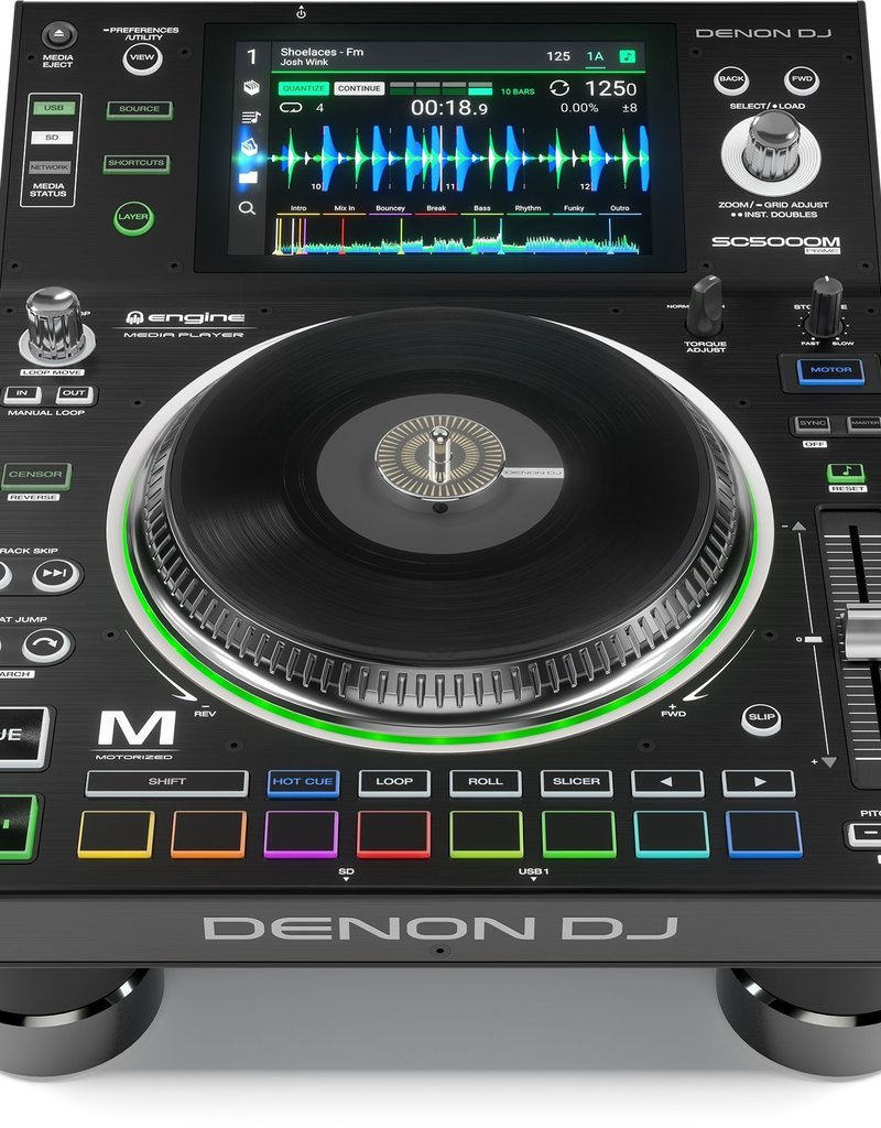 Denon SC5000M Prime Media Controller w/ Motorized Platter Buy One Get One 50% Off!!