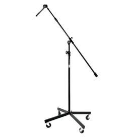 "On-Stage On-Stage Studio Boom w/ 7"" Mini Boom Extension & Locking Casters - Black"