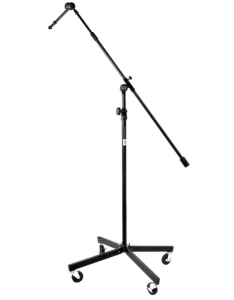 "On-Stage On-Stage Studio Boom w/ 7"" Mini Boom Extension & Locking Casters - Black"