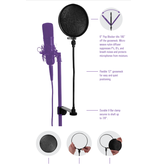 """On-Stage On-Stage 6"""" Pop Blocker w/ Clamp Gooseneck and Replaceable Filters ASVSR6GB"""