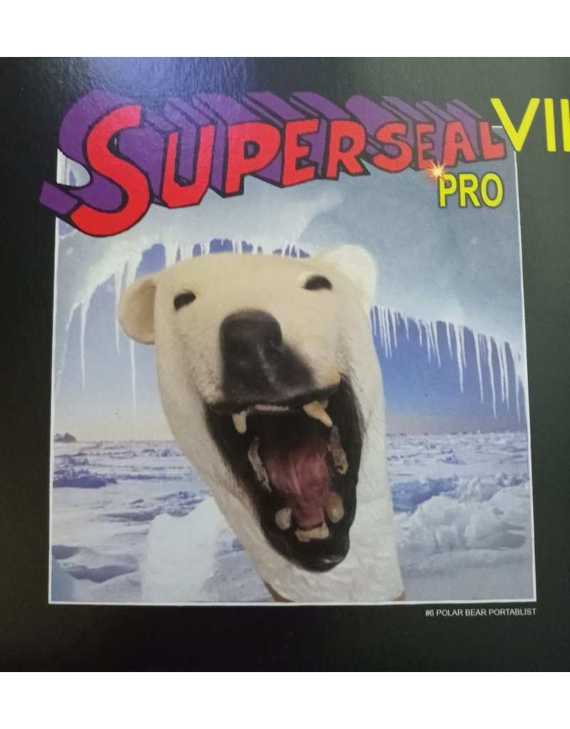 "Thud Rumble DJ Qbert SUPERSEAL VII PRO Part #6 of 7 Polar Bear Portablist 7"" R. Wing Ice Blue Vinyl"