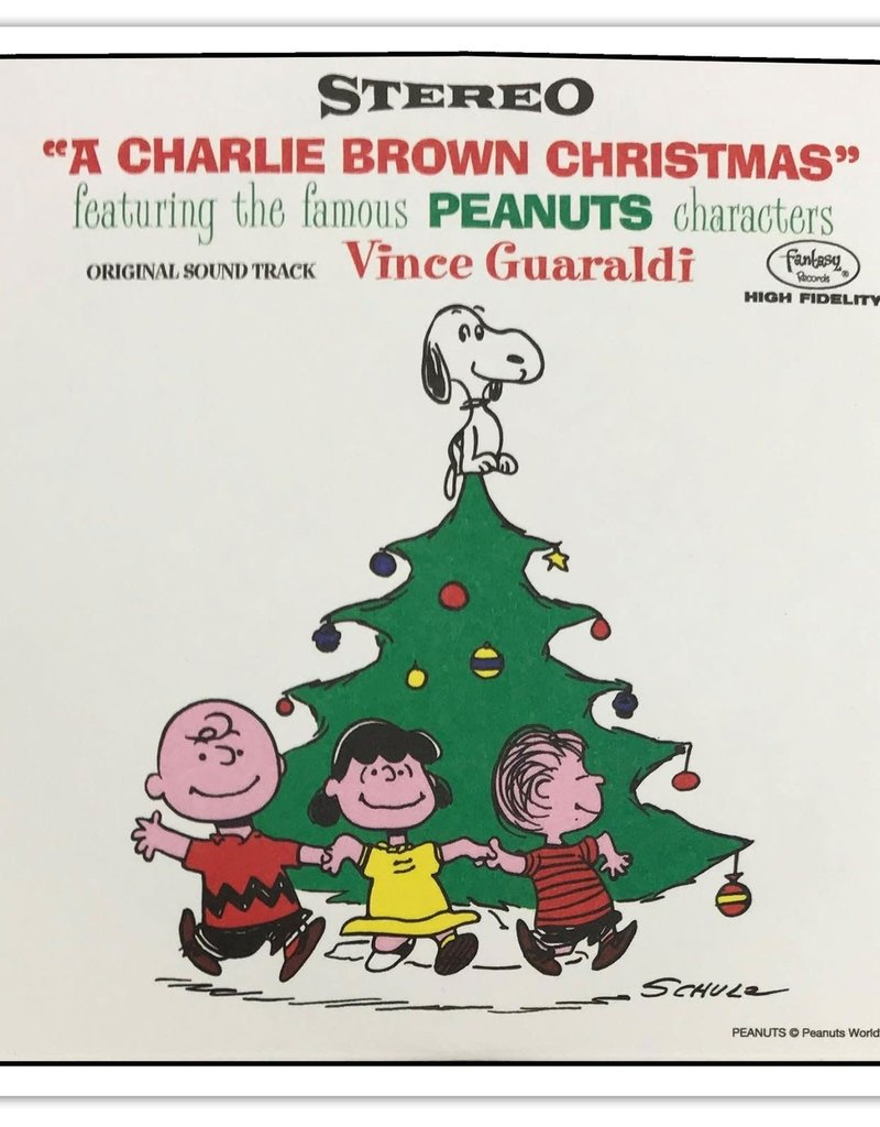 """Crosley A Charlie Brown Christmas Set of Four 3"""" Records"""