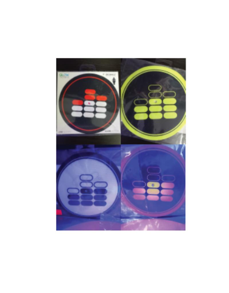 "Mile High DJ Supply Mile High Dj Supply 7"" Slipmat 9oz SkinnEz™ Glazed™ Bottom Made By Glowtronics (Single)"