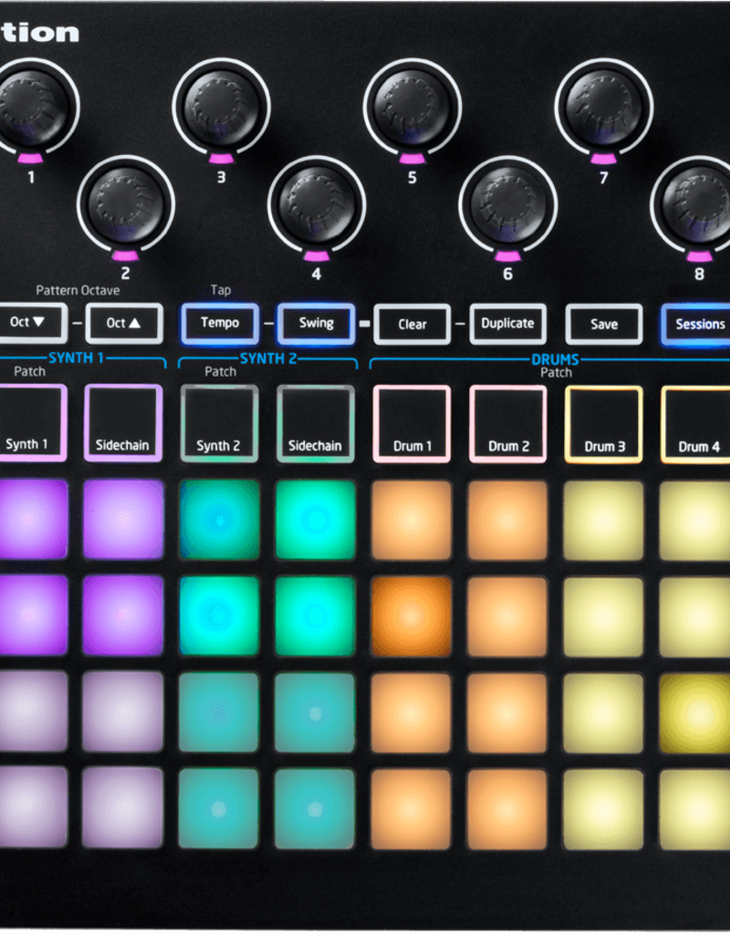 Novation Circuit:  Groove Box with Sample Import