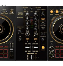 DDJ-400-N 2-Channel DJ Controller for Rekordbox DJ (Black & Gold) - Pioneer DJ