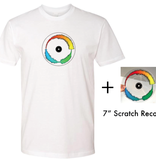 "Mile High DJ Supply Visual Vinyl Vol. 1 Bundle (Limited to 20) - White T Shirt & Clear 7"" Visual Vinyl Vol. 1 Scratch Record"