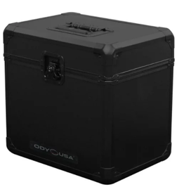 Odyssey Black KROM Record / Utility Case for 70 12″ Vinyl Records All Black