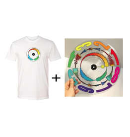"Mile High DJ Supply Visual Vinyl Vol. 2 Bundle - White T Shirt & Clear 12"" Visual Vinyl Vol. 2 Scratch Record"