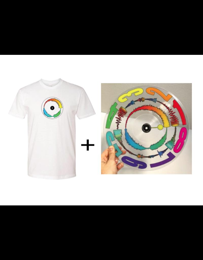 "Mile High DJ Supply Visual Vinyl Vol. 2 Bundle - White T Shirt & Clear 12"" Visual Vinyl Vol. 2 Scratch Record"