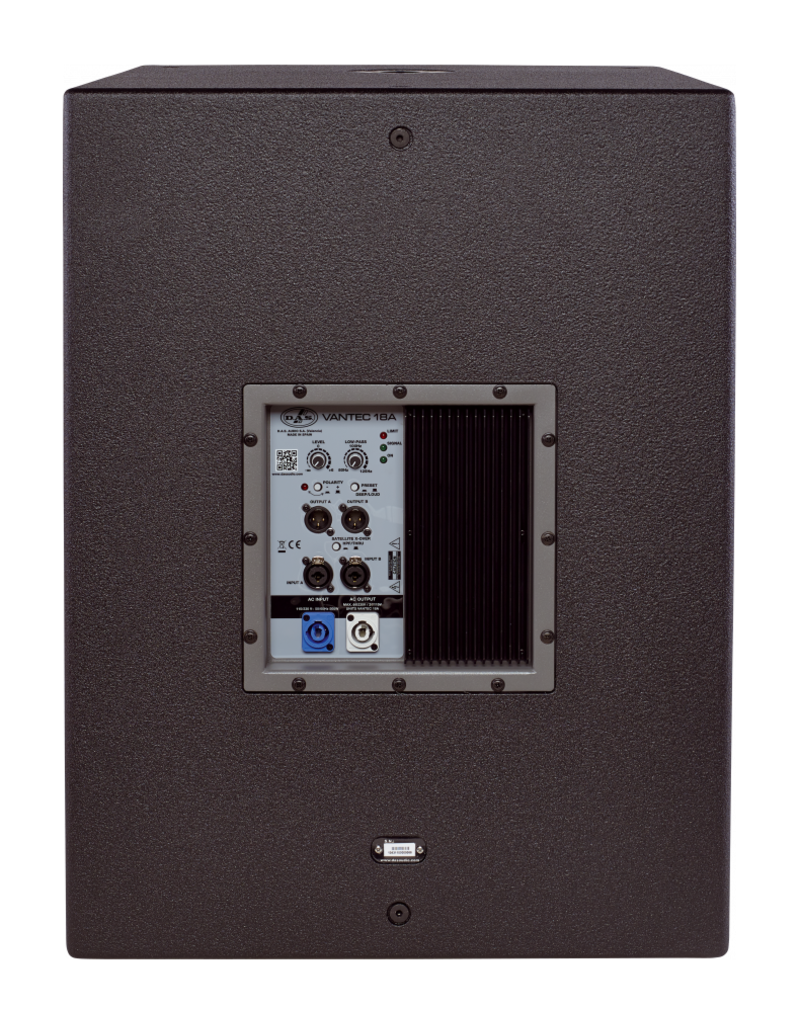 DAS Audio DAS Audio VANTEC-18A 18 inch 2000W Powered Ground-Stacked Long Excursion Subwoofer