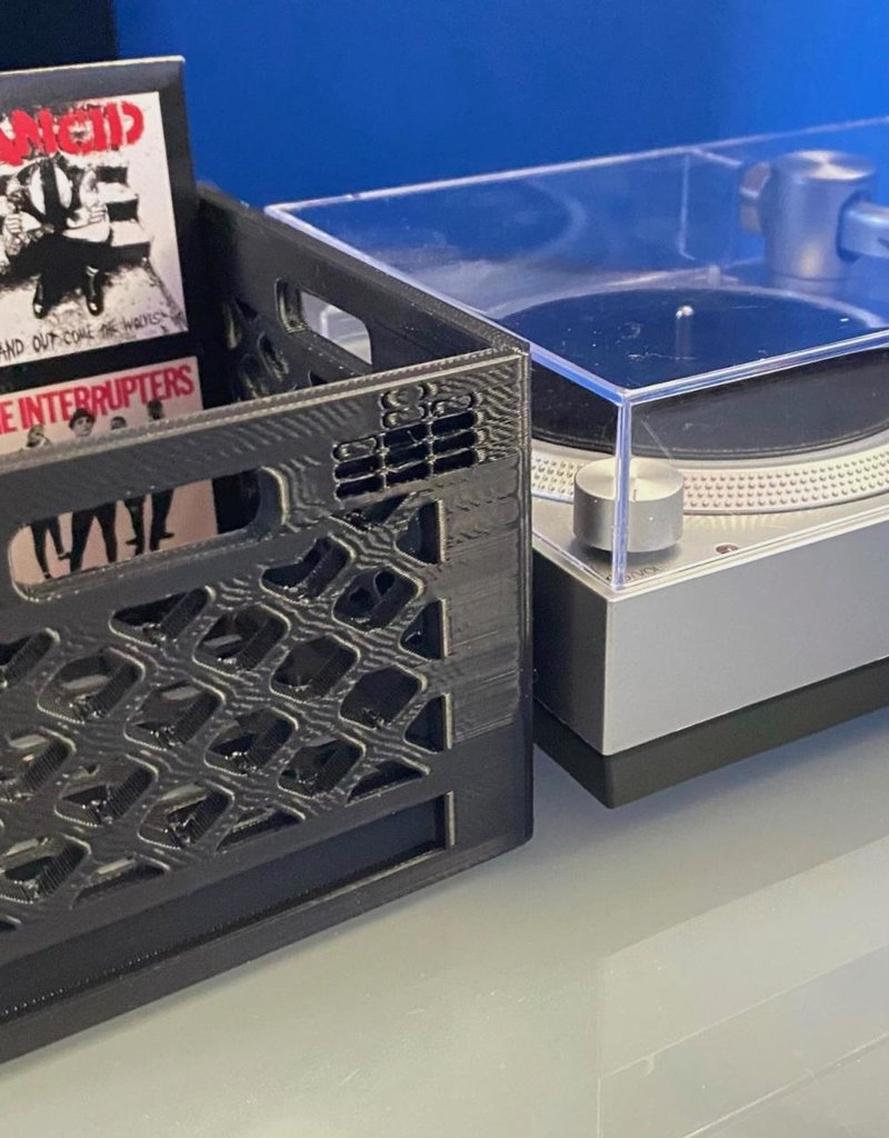 "Mile High DJ Supply Milk Crate for 3"" Records"