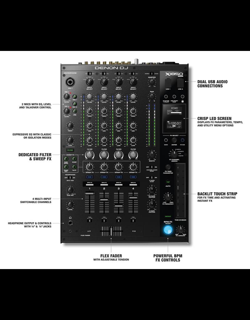 Denon DJ X1850 Prime 4-Channel DJ Club Mixer