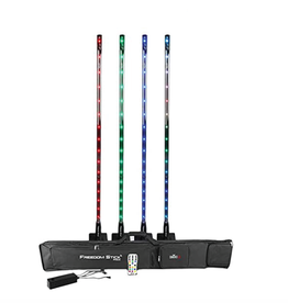 Chauvet DJ Chauvet DJ Freedom Stick Pack 4x RGB LED with Battery D-Fi Remote and Carrying Case