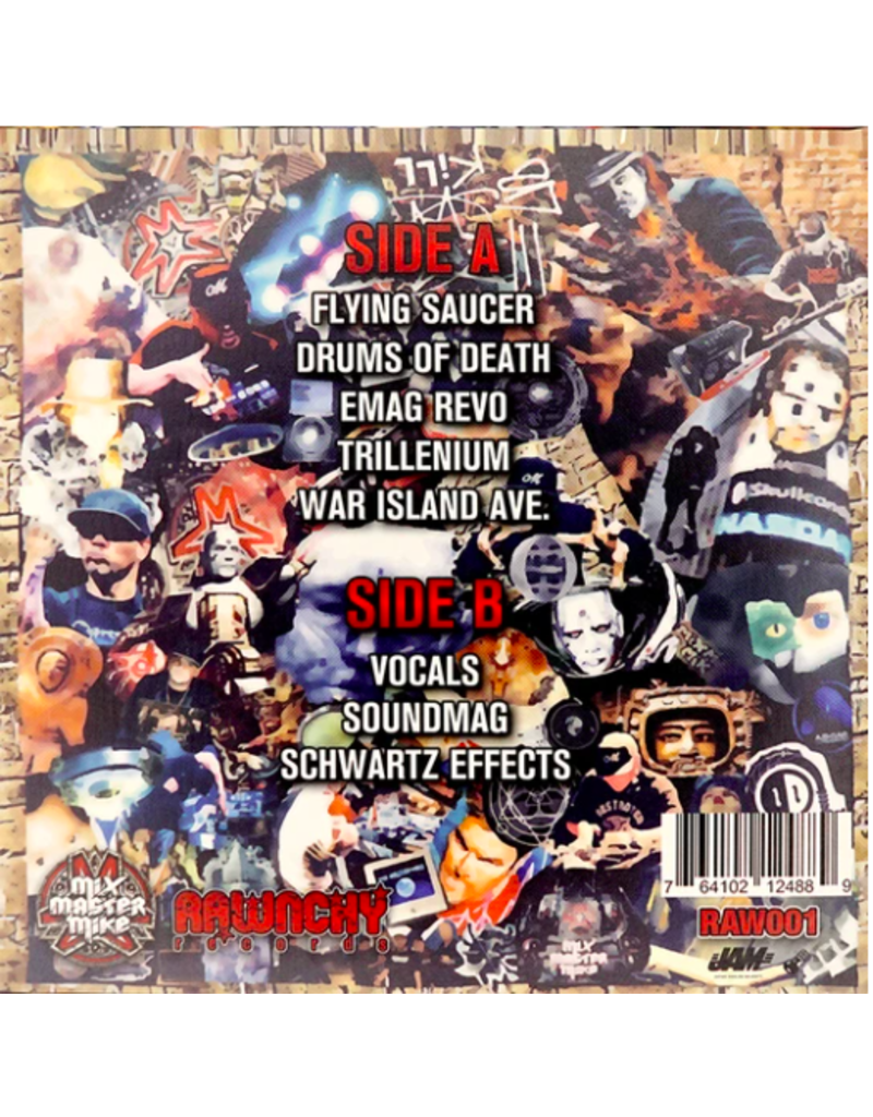 """Rawnchy Records MIX MASTER MIKE: CONQUEST 7"""" SCRATCH RECORD"""