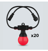 Chauvet DJ Chauvet DJ Festoon 2 RGB EXT 49' Extension with x20 Festoon 2 RGB Bulbs