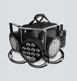 Chauvet DJ Chauvet DJ SlimPACK Q12 USB Bundle of 4 Wash Lights DMX Cables and Bag
