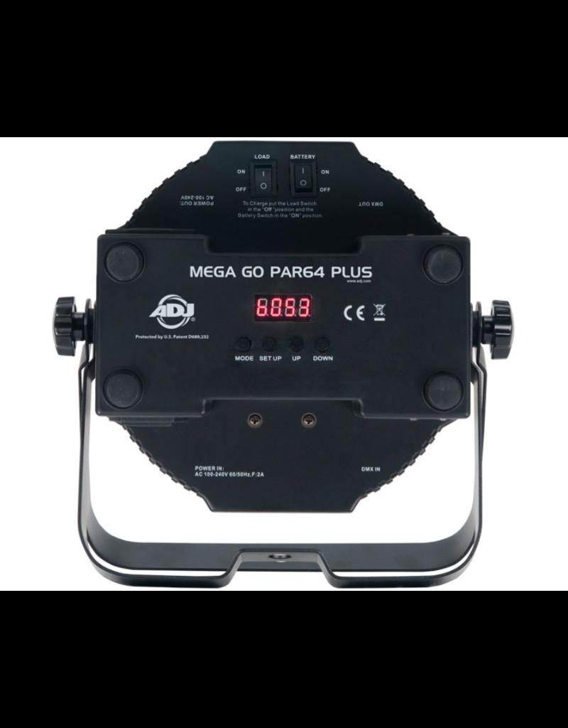 ADJ ADJ Mega Go Par 64 Plus Battery Powered Low Profile RGB + UV LED Par Can