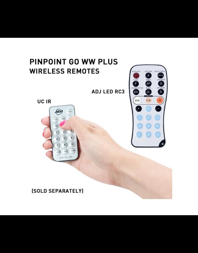 ADJ ADJ PinPoint Go WW Plus Battery Powered Pinspot with 3w Warm White LED