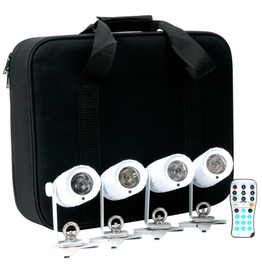 ADJ ADJ PinPoint GO Pak with 4x PinPoint Go's, Remote Control, and Carrying Case