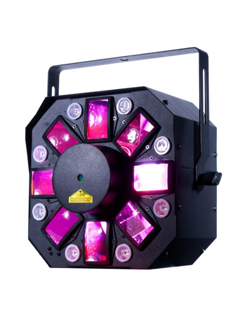 ADJ ADJ Startec Stinger II 3-FX-IN-1 Moonflower + Red and Green Galaxian Laser + UV LED